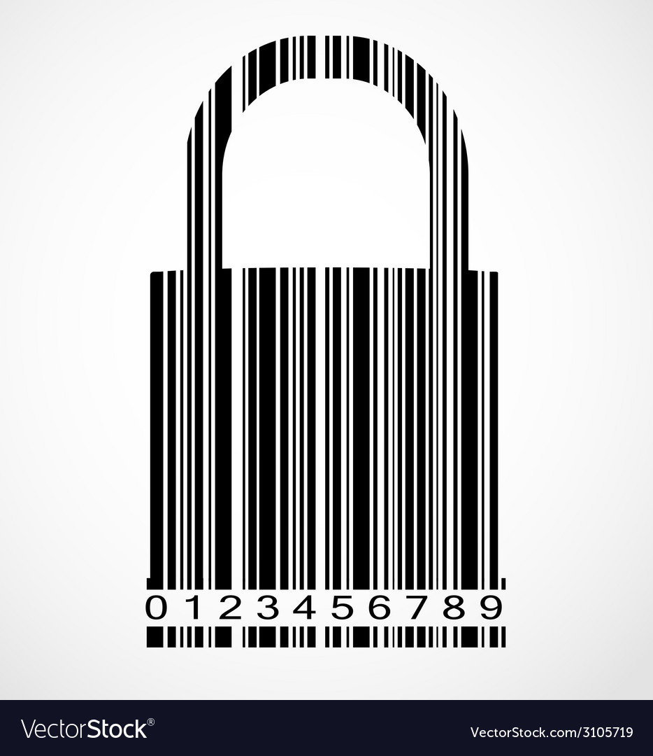 Barcode lock image vector | Price: 1 Credit (USD $1)
