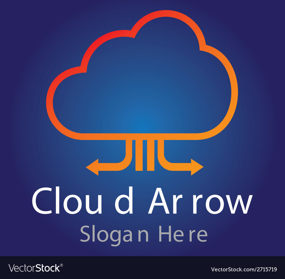 Cloud arrow logo vector | Price: 1 Credit (USD $1)
