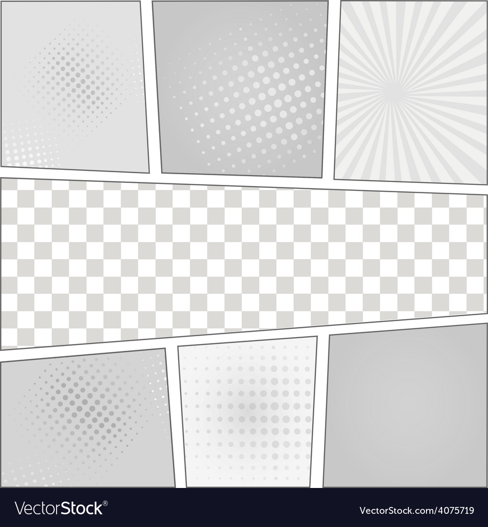 Comics pop art style blank layout template with vector | Price: 1 Credit (USD $1)