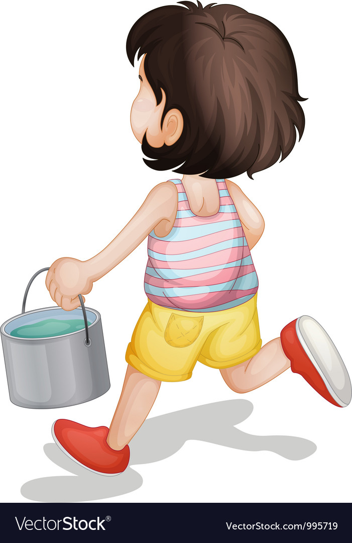 Kid carrying paint vector | Price: 3 Credit (USD $3)