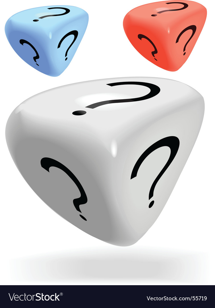Mystery dice vector | Price: 1 Credit (USD $1)