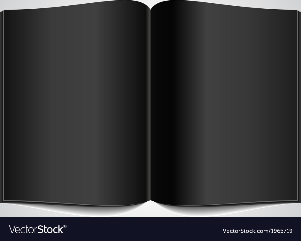 Open book with black glossy pages vector | Price: 1 Credit (USD $1)