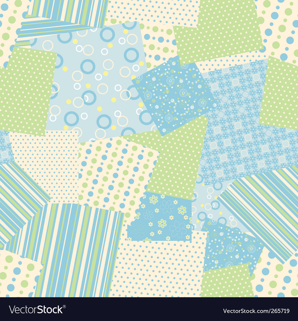 Patchwork seamless pattern vector | Price: 1 Credit (USD $1)