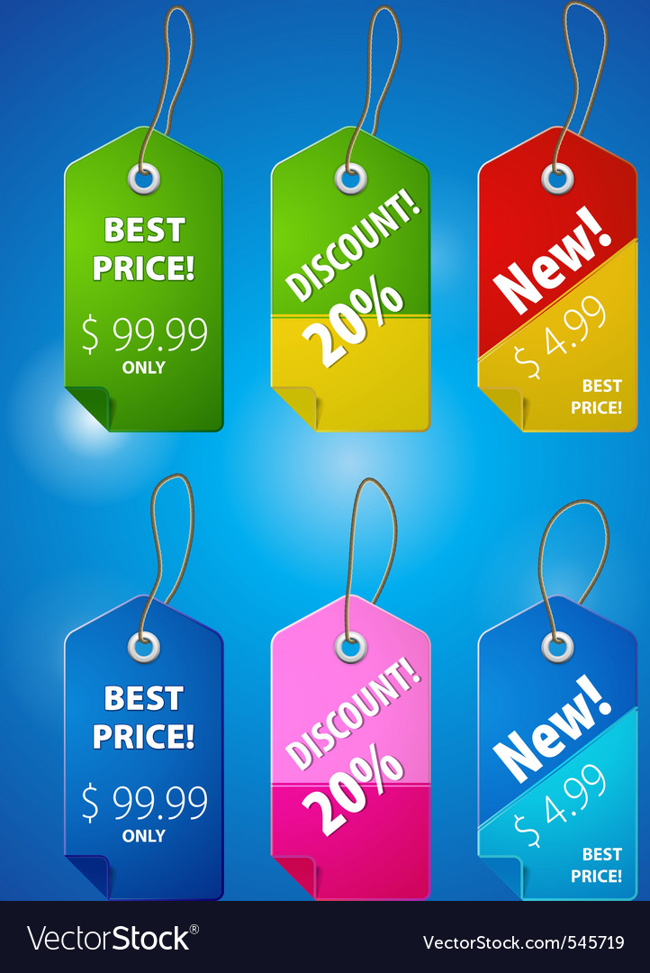 Price tab illutstraion vector