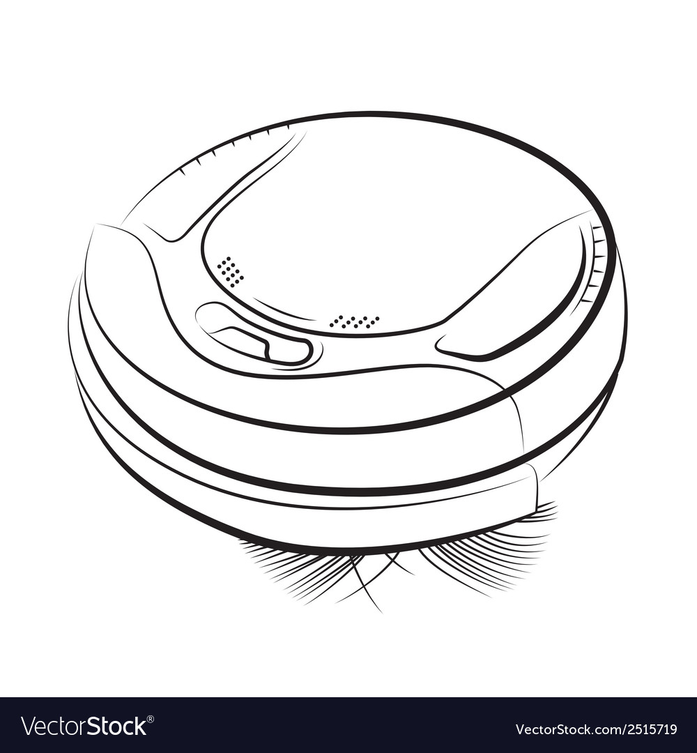 Robotic vacuum cleaner vector | Price: 1 Credit (USD $1)