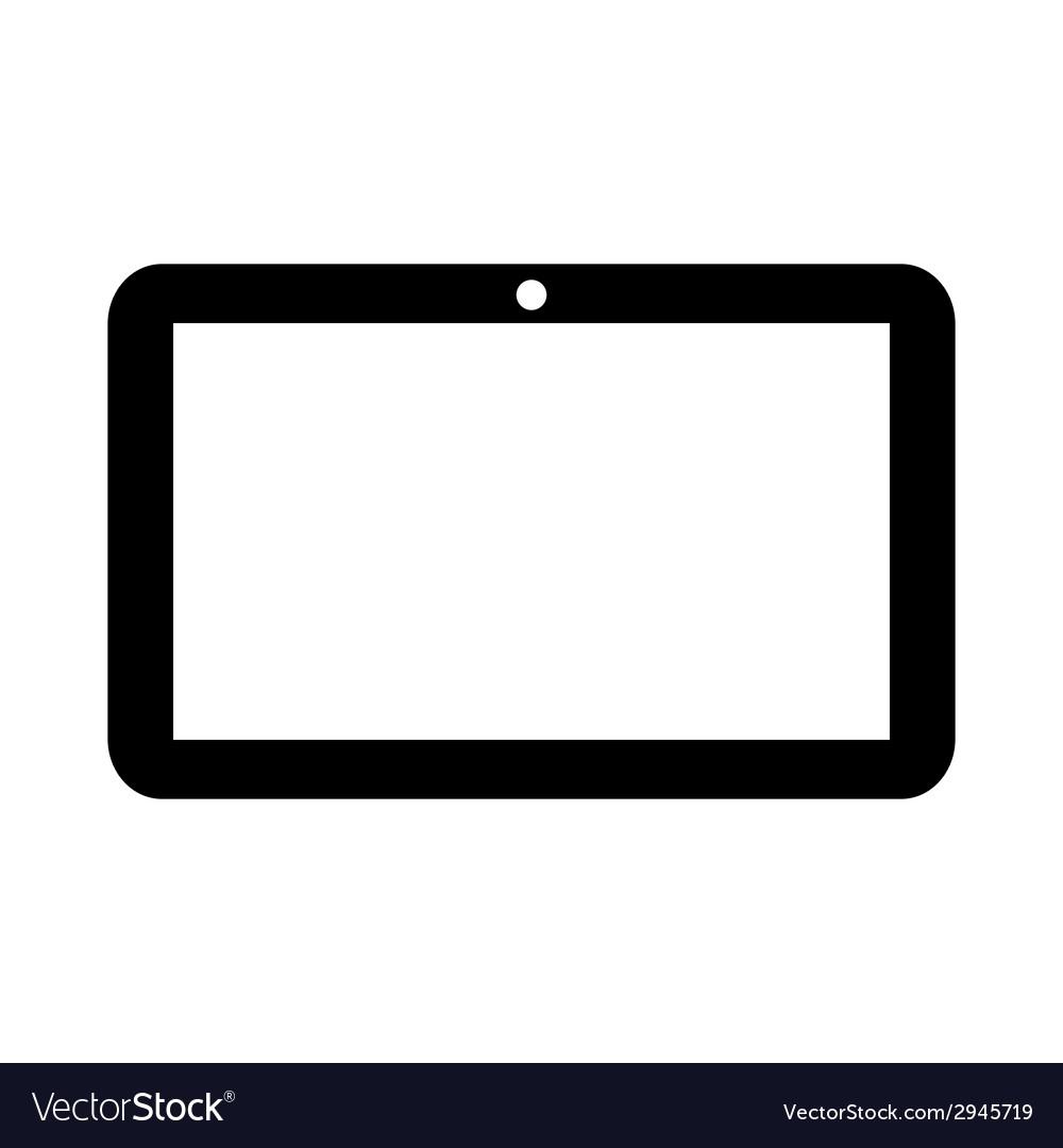 Tablet computer icon vector | Price: 1 Credit (USD $1)