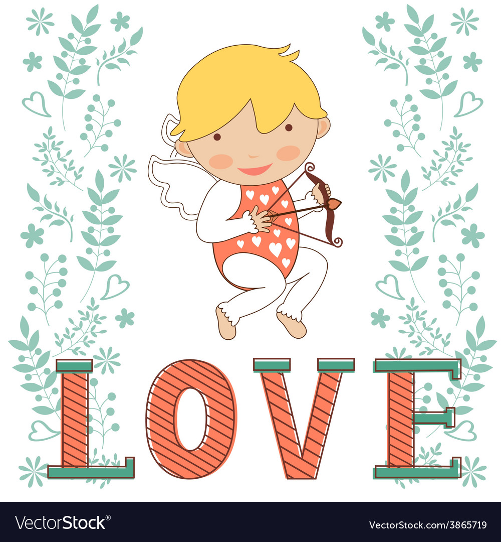 Valentines day card with little amour vector | Price: 1 Credit (USD $1)