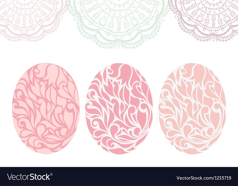 Vintage easter card with eggs vector   Price: 1 Credit (USD $1)