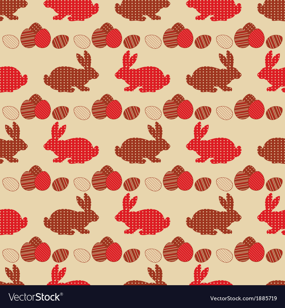 Vintage seamless easter background vector   Price: 1 Credit (USD $1)