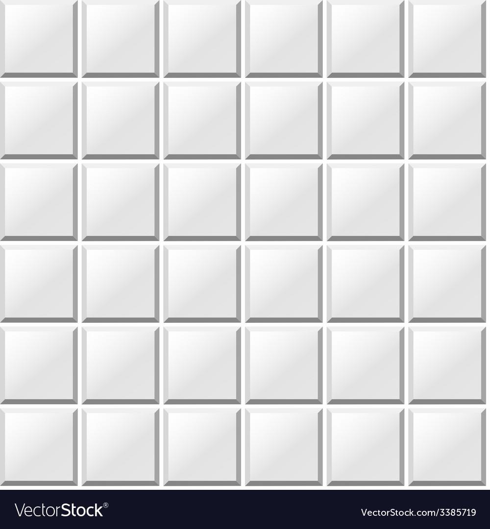 White tiles seamless pattern vector