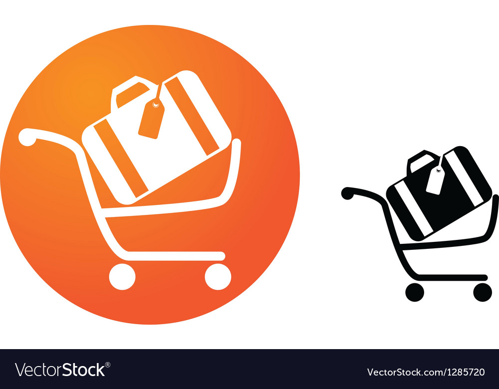 Baggage cart vector | Price: 1 Credit (USD $1)