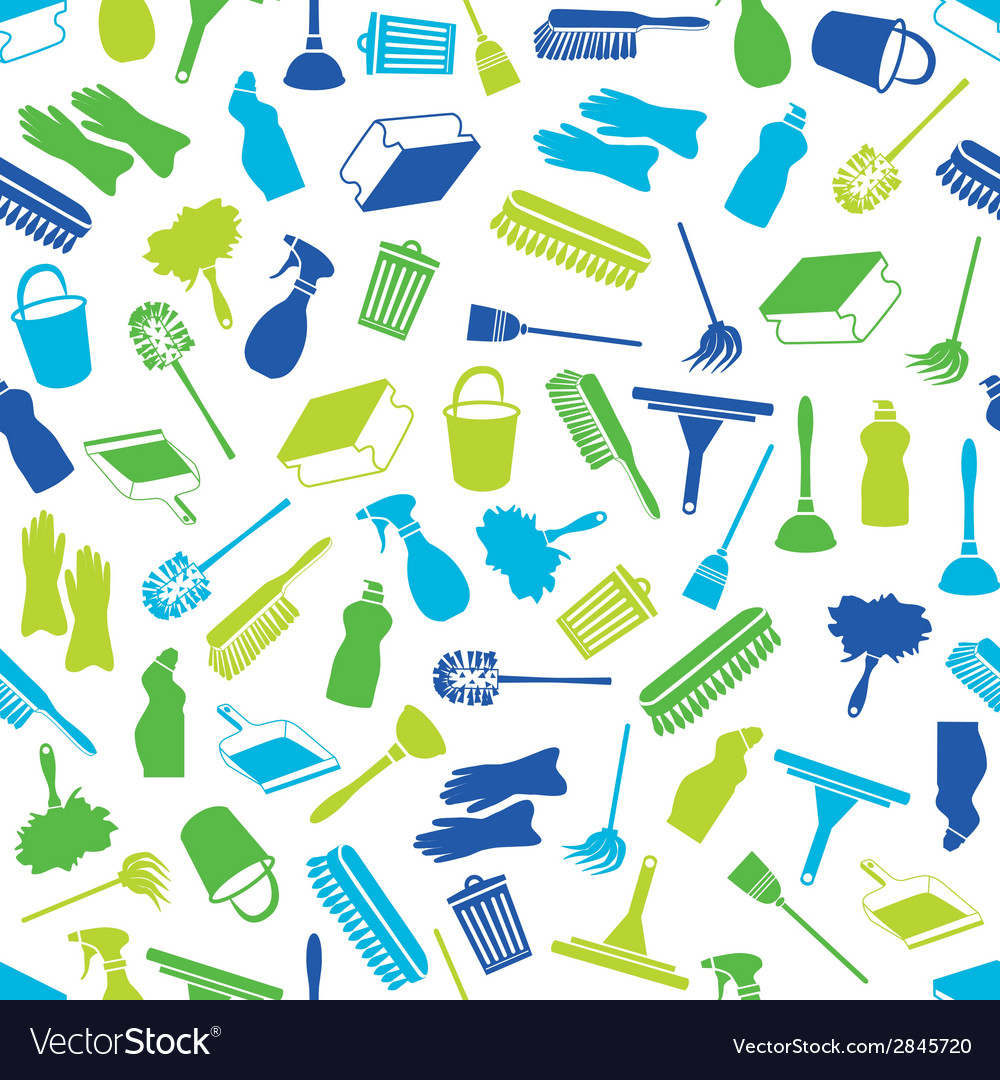 Cleaning seamless pattern vector | Price: 1 Credit (USD $1)