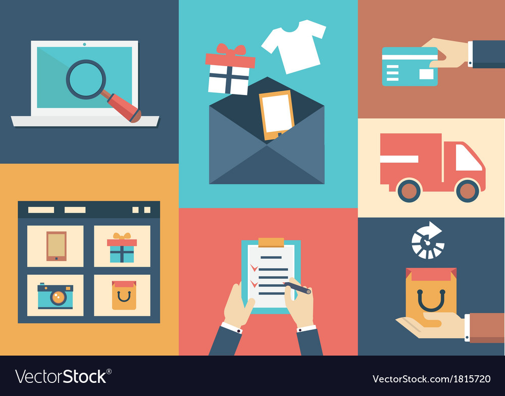 Concept of process email marketing vector | Price: 1 Credit (USD $1)