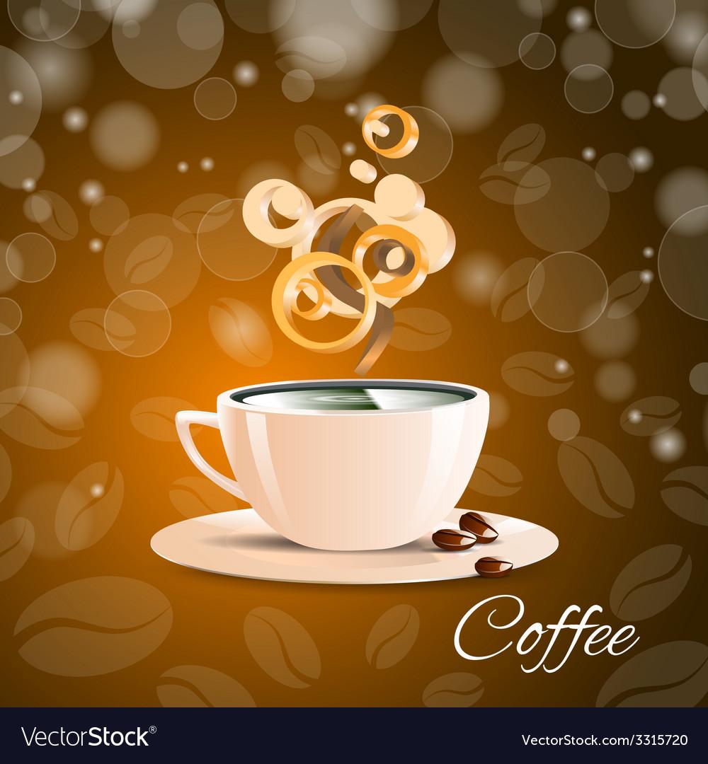 Cup coffe brown aroma espresso cafe vector | Price: 1 Credit (USD $1)