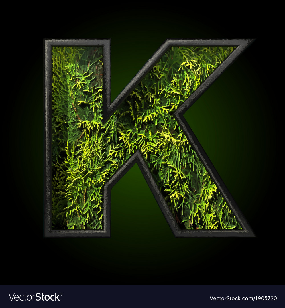 Grass cutted figure k vector | Price: 1 Credit (USD $1)