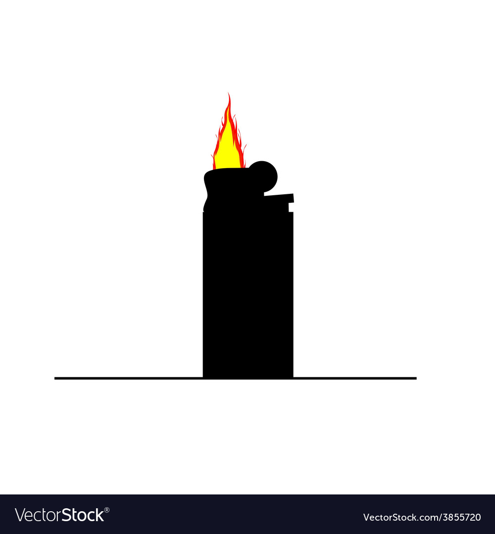 Lighter flame color vector | Price: 1 Credit (USD $1)