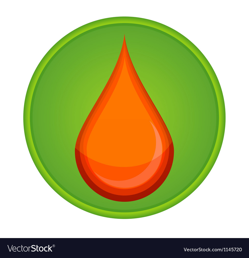Medic symbol blood drop red color vector | Price: 1 Credit (USD $1)