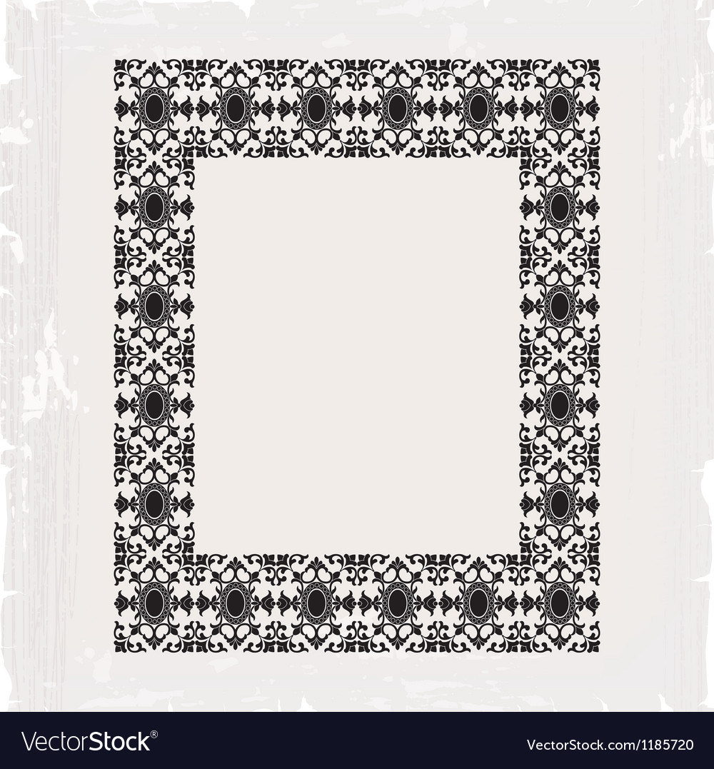 Ornamental frame vintage in editable vector | Price: 1 Credit (USD $1)
