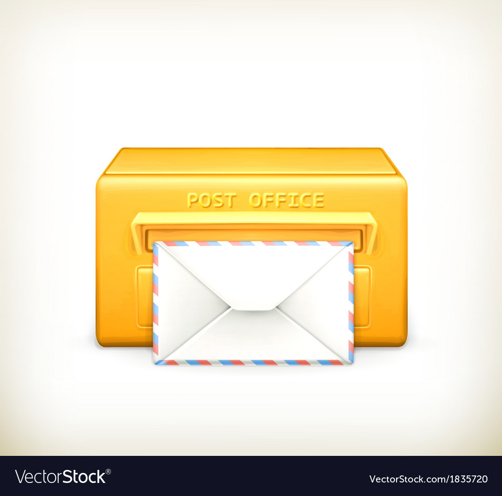 Post office icon vector | Price: 1 Credit (USD $1)