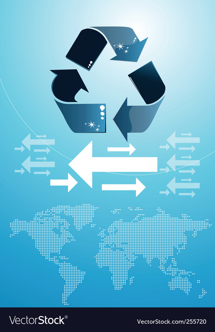 Recycle icon vector   Price: 1 Credit (USD $1)