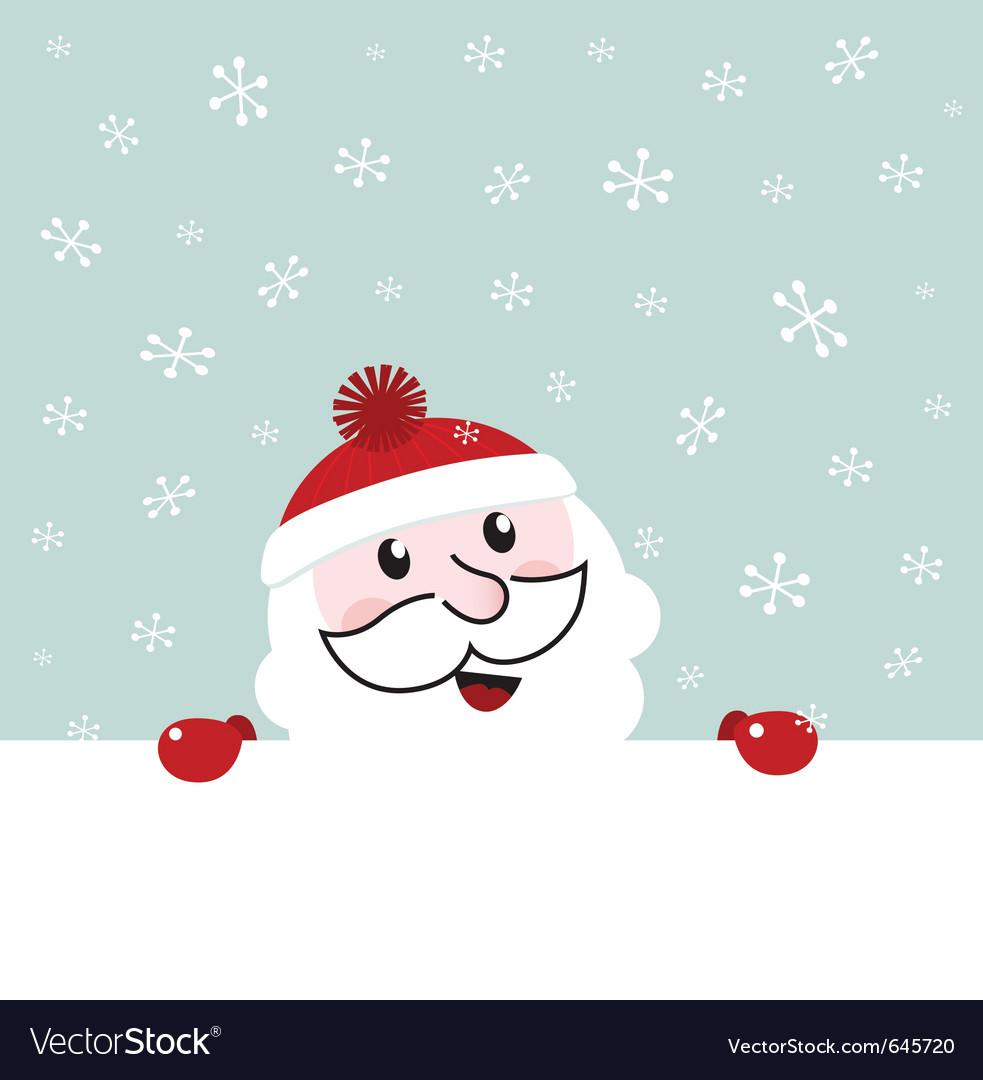 Santa banner vector | Price: 1 Credit (USD $1)
