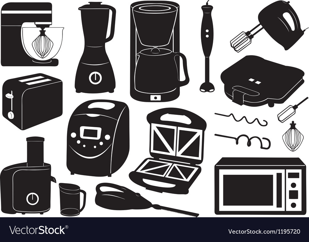 Set of kitchen appliances vector | Price: 1 Credit (USD $1)