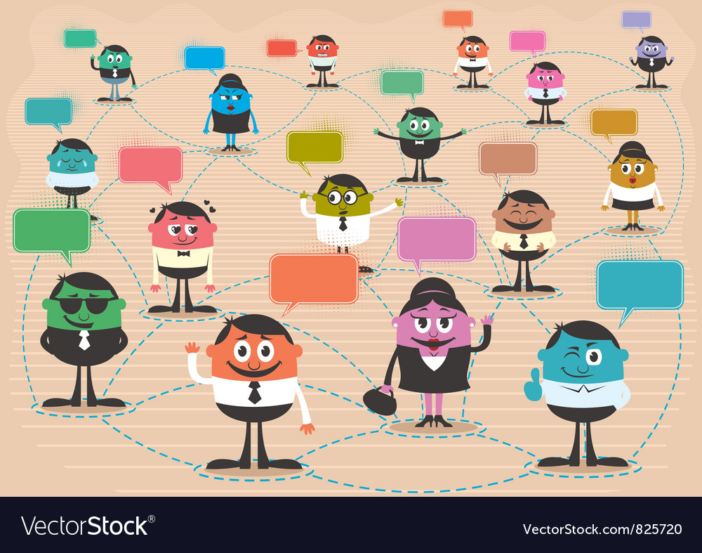 Social network vector | Price: 3 Credit (USD $3)