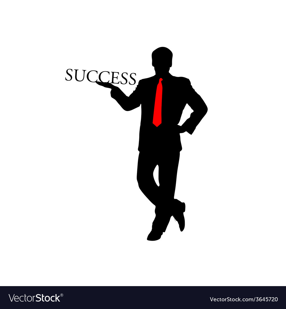 Success businessman color vector | Price: 1 Credit (USD $1)
