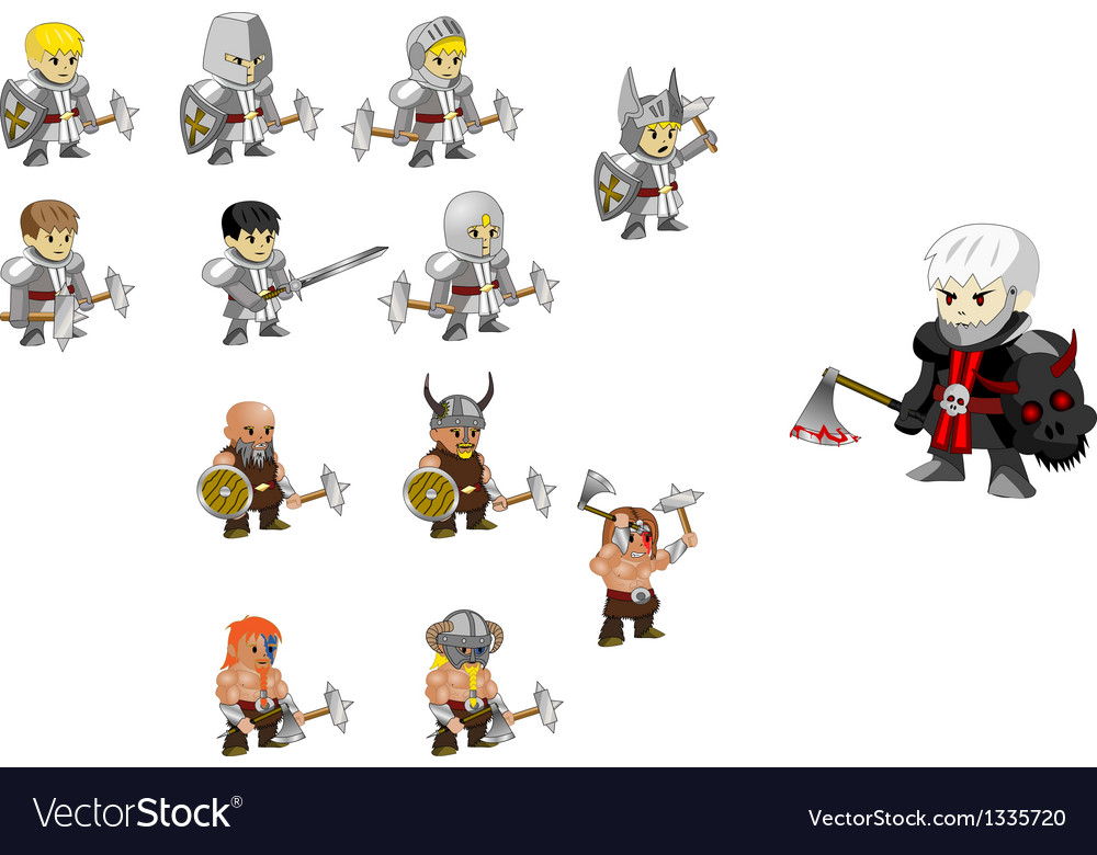 Warrior set vector | Price: 1 Credit (USD $1)