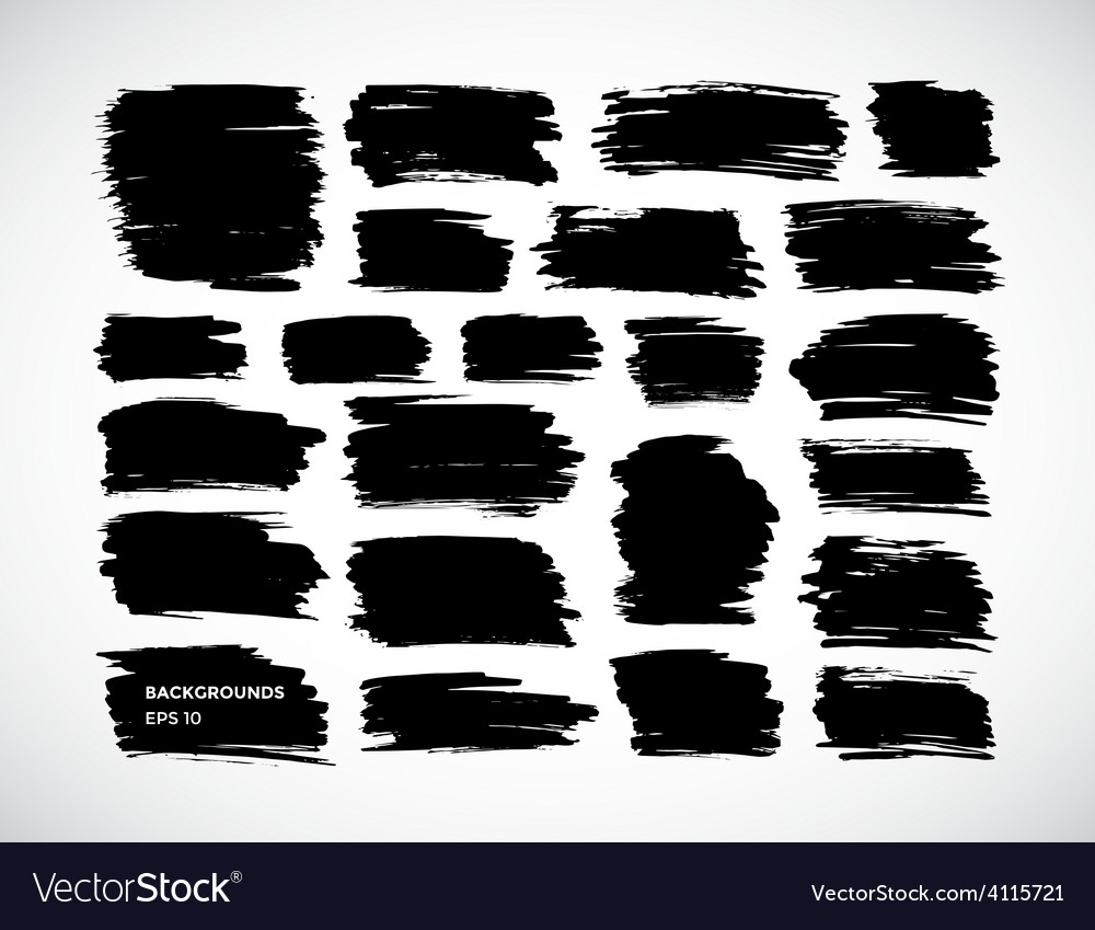Brushstroke banners ink spot backgrounds vector   Price: 1 Credit (USD $1)
