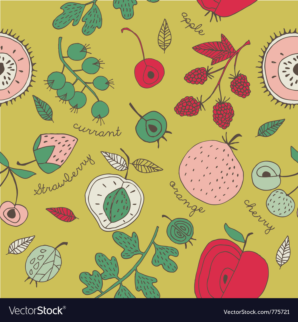 Fruit kitchen wallpaper vector | Price: 1 Credit (USD $1)