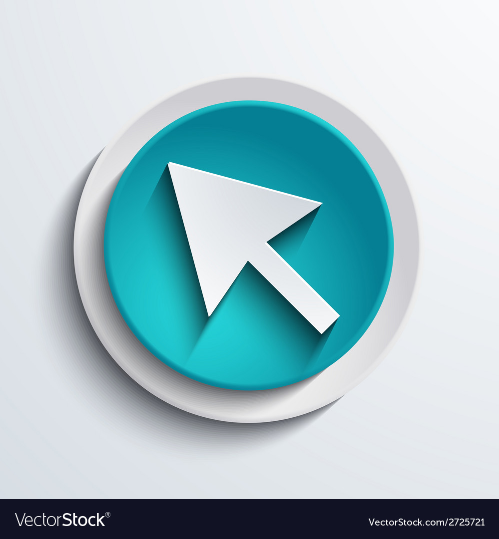 Modern blue circle icon web element vector | Price: 1 Credit (USD $1)