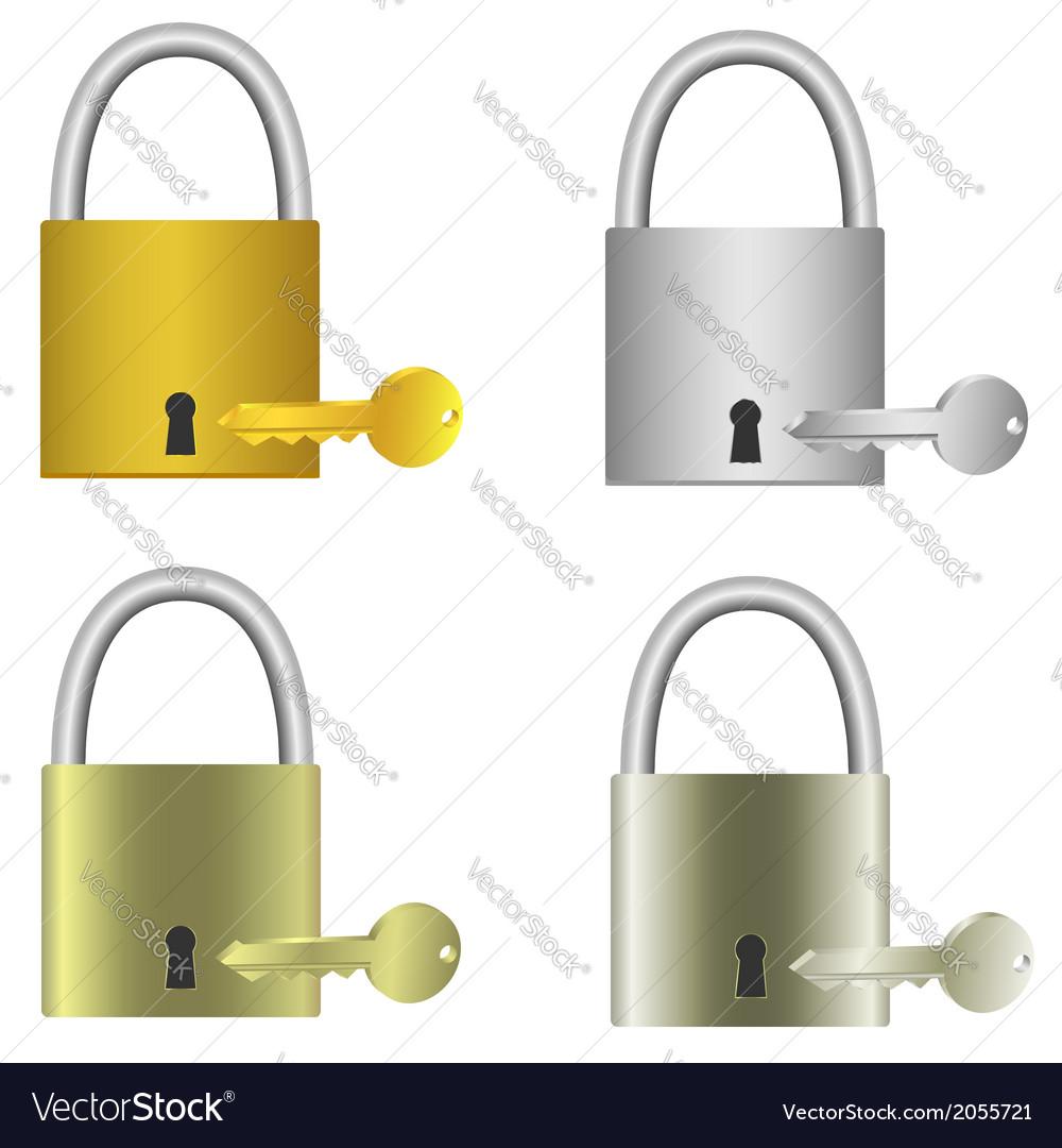 Padlocks with keys vector | Price: 1 Credit (USD $1)