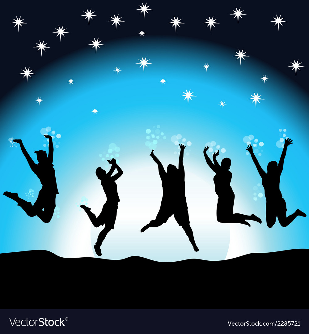 Party night in the moonlight vector | Price: 1 Credit (USD $1)