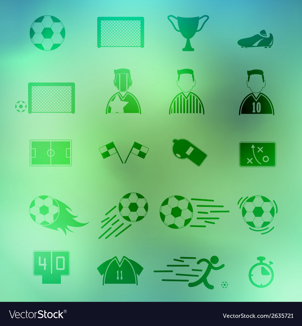 Soccer icons set on background eps10 vector | Price: 1 Credit (USD $1)