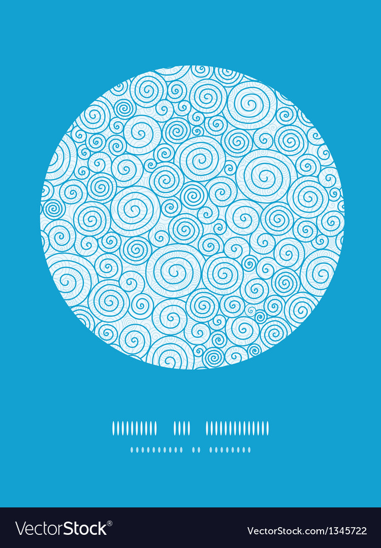 Abstract swirls circle decor pattern background vector | Price: 1 Credit (USD $1)