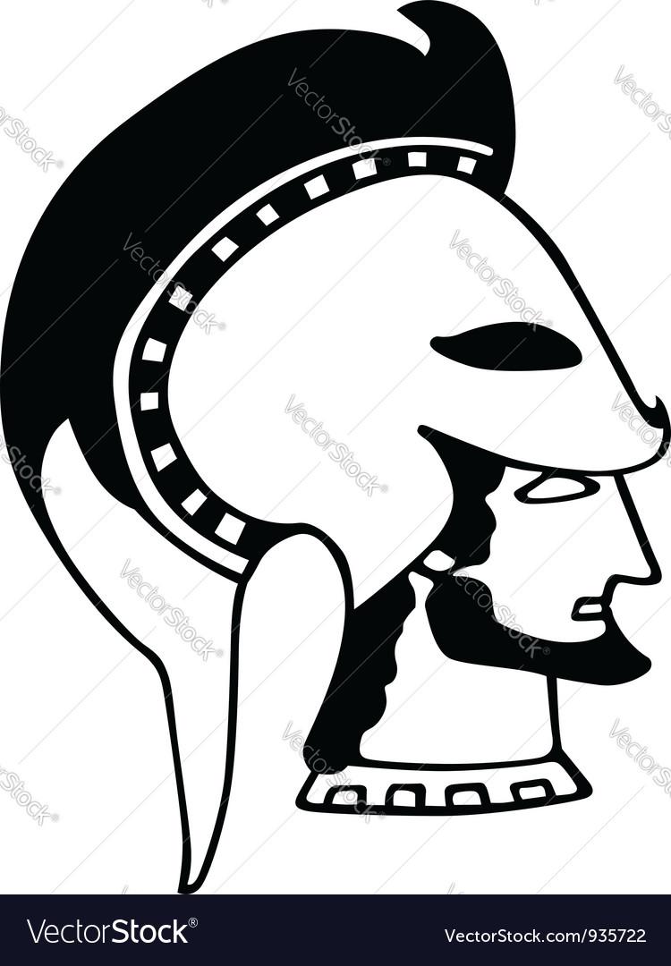 Ancient greek soldier vector | Price: 1 Credit (USD $1)