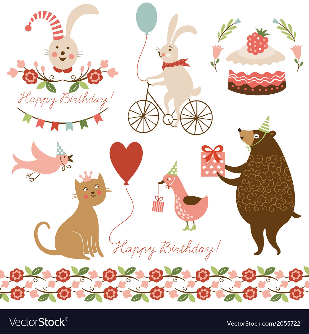 And graphic elements for greeting ca vector | Price: 1 Credit (USD $1)