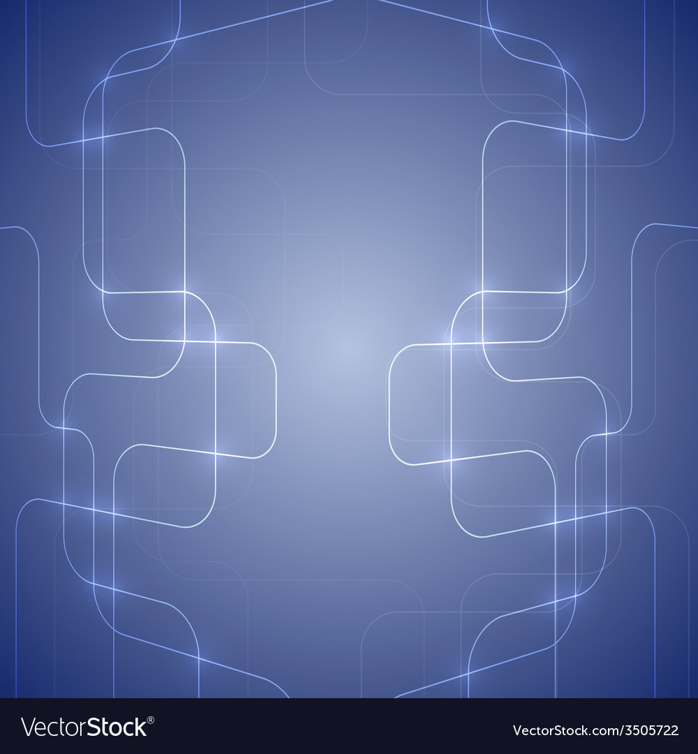 Blue abstract background with glowing light vector | Price: 1 Credit (USD $1)