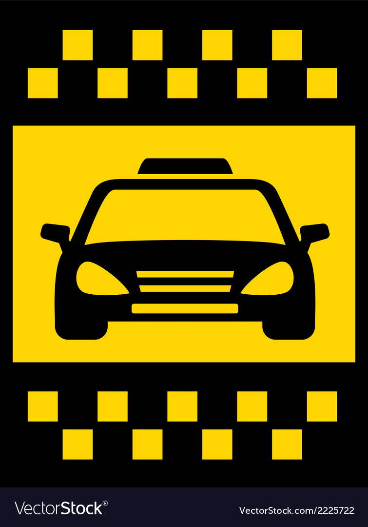 Cab transport background vector | Price: 1 Credit (USD $1)