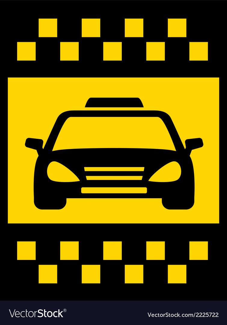 Cab transport background vector | Price: 1 Credit (USD $1)