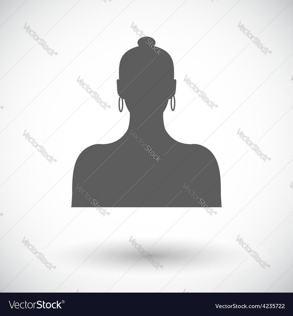Female avatar single icon vector | Price: 1 Credit (USD $1)