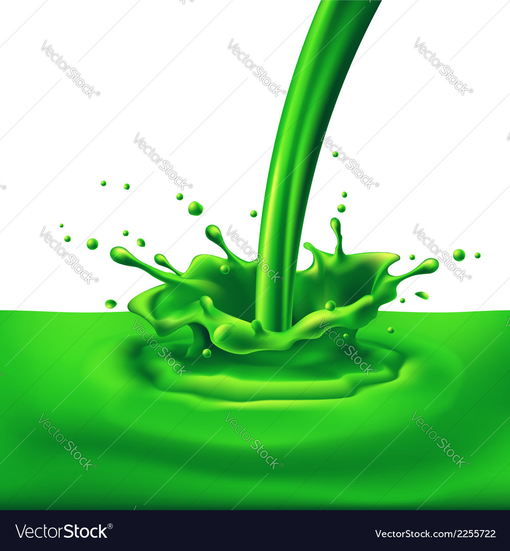 Green paint splashing vector | Price: 1 Credit (USD $1)