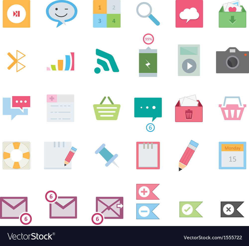 Modern web icons vector | Price: 1 Credit (USD $1)