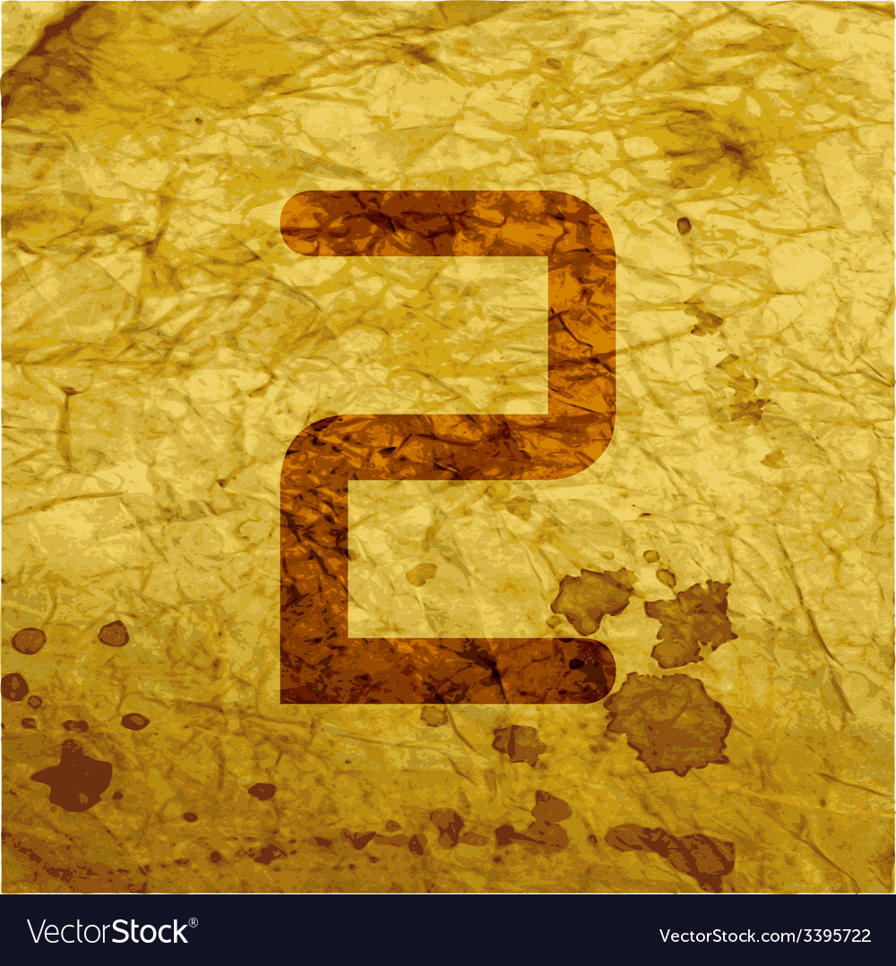 Number two icon symbol flat modern web design with vector   Price: 1 Credit (USD $1)