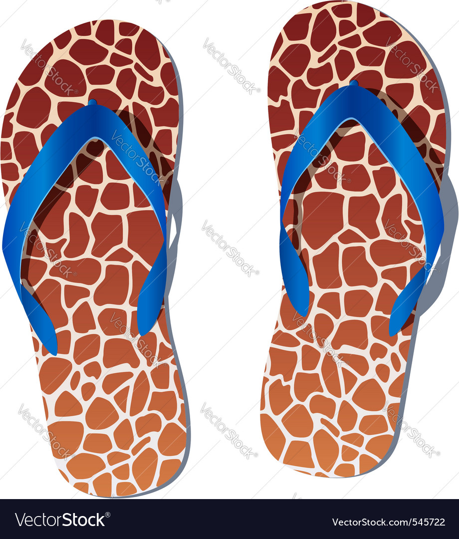 Pair of flip flops vector | Price: 1 Credit (USD $1)