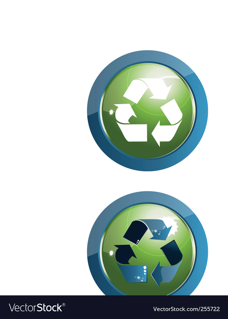 Recycle icon illustration on w vector | Price: 1 Credit (USD $1)