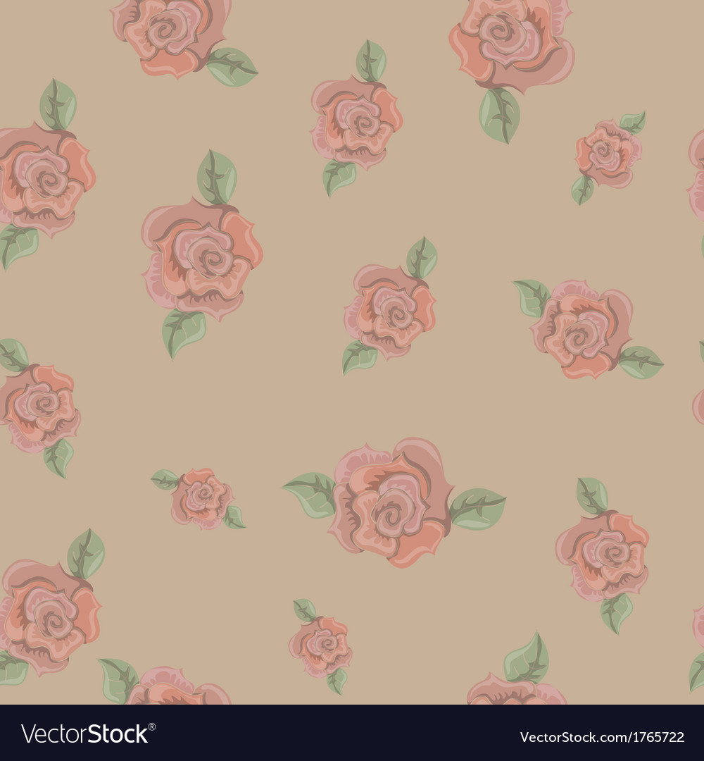 Retro background with roses vector | Price: 1 Credit (USD $1)