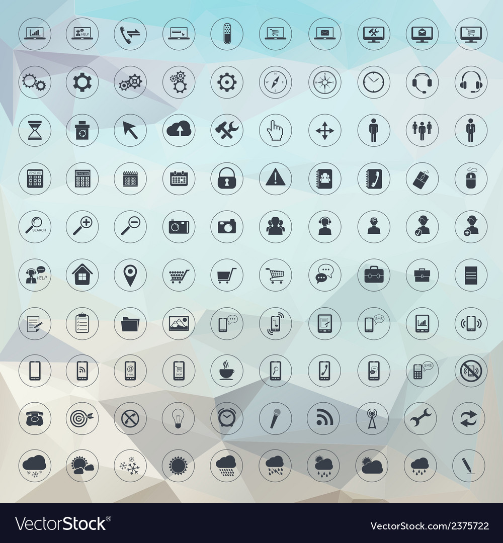 Set of universal icons for web and mobile vector | Price: 1 Credit (USD $1)