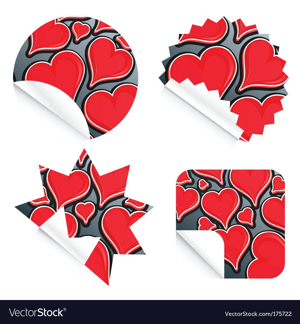 Valentine stickers vector | Price: 1 Credit (USD $1)